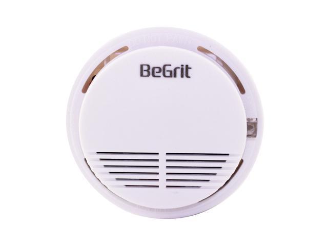 Wireless Smoke Detector Home Security Fire Alarm Sensor System Cordless White