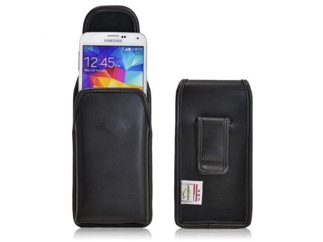 timeless design ab633 fe9aa Turtleback Samsung Galaxy S5 Vertical Leather Pouch Holster Black Belt Clip  Case - Newegg.com