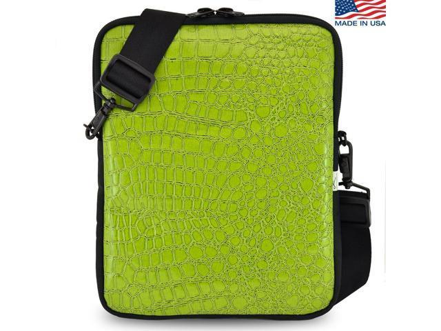 Universal Tablet Bags Green Crocodile Sleeve Bag With Shoulder Strap Newegg