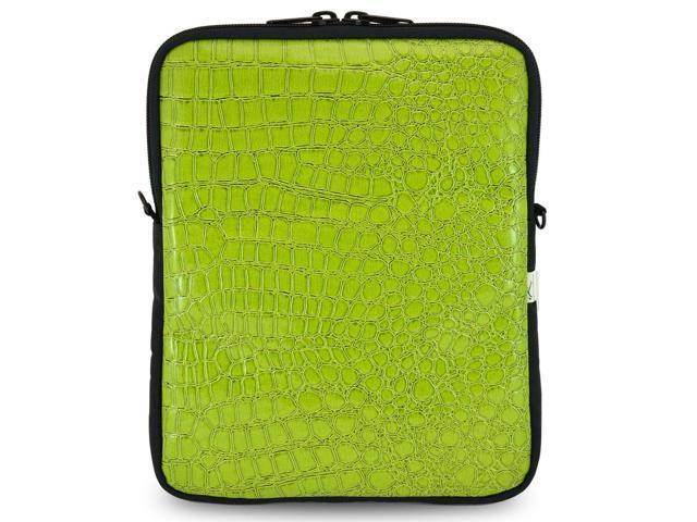 Universal Tablet Bags Brown Crocodile Tablet Sleeve Bag with Shoulder Strap