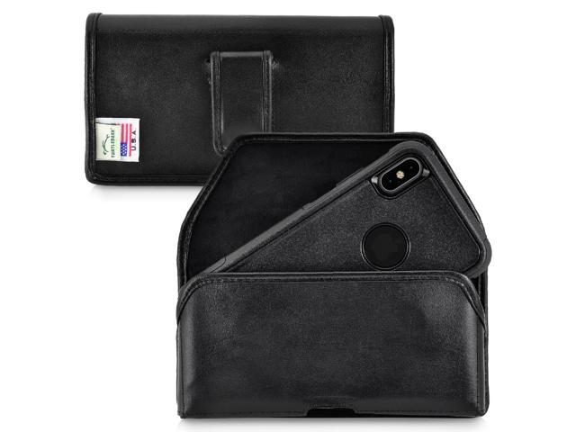 best service c8c91 16229 Belt Case fits iPhone XS MAX with OTTERBOX COMMUTER Black Leather Pouch  Clip - Newegg.com