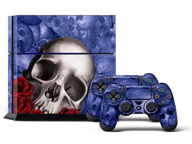 0670f1bdf Sony PS4 PlayStation 4 Console Skin plus 2 Controller Skins - Bones Blue