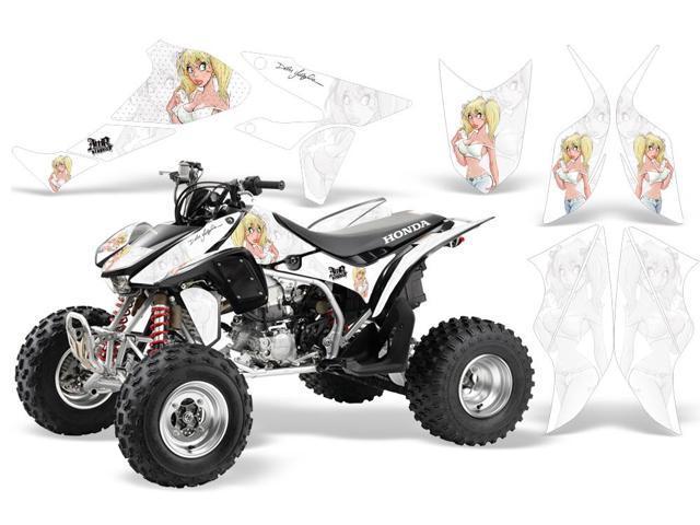 2004-2014|Honda|TRX|450R::AMRRACING ATV Graphics Decal  Kit:Mandy-White-White - Newegg com