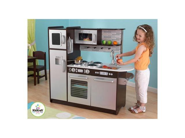 KidKraft Uptown Espresso KITCHEN Refrigerator Toddler Kids Pretend Play Set  Wood - Newegg.com