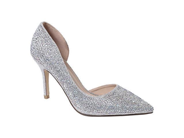 e454e7cfc13 Sweetie's Shoes Silver Closed Toe Special Occasion Marissa Pumps 7 Womens -  Newegg.com
