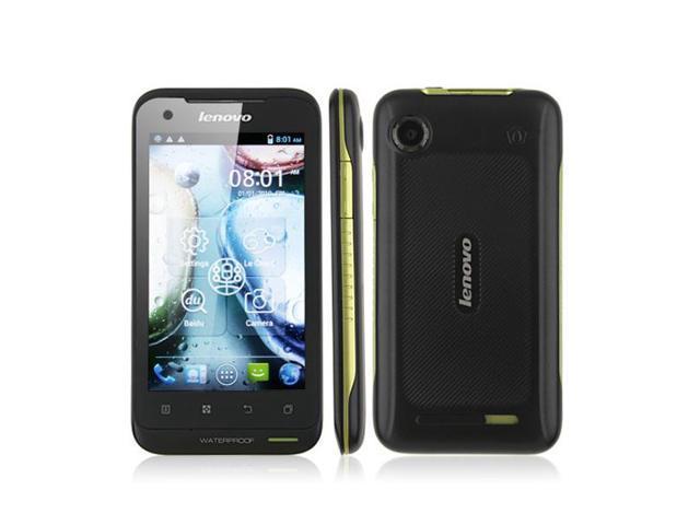 Lenovo LePhone A660 MTK6577 Dual Core Android 4 0 Waterproof Mobile Phone  4 0 Inch Screen 4G ROM 3G GPS Smart Phone - Black original - Newegg com