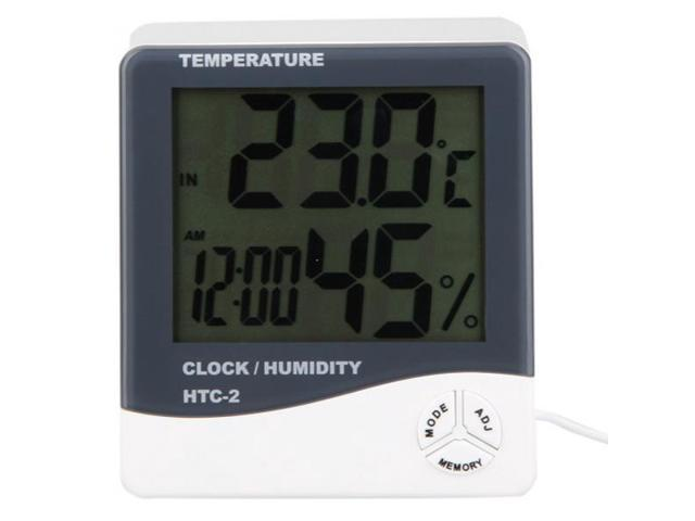 Tools Lcd Wireless Electronic Clock Thermometer Digital Desktop Table Clock Outdoor Indoor Temperature Measure To Help Digest Greasy Food Temperature Instruments