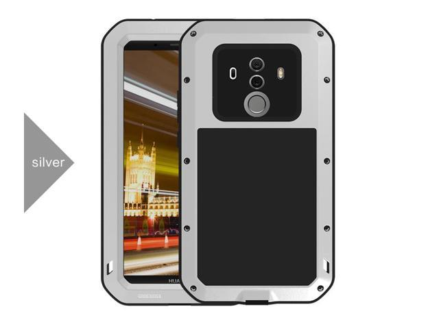 competitive price 0ef18 e91b5 LOVE MEI Waterproof Case for Huawei Mate 10 Pro Armored Metal Aluminum  Shell Case Water/Dirt/Shock/SnowProof Lovemei Cover (Silver) - Newegg.com