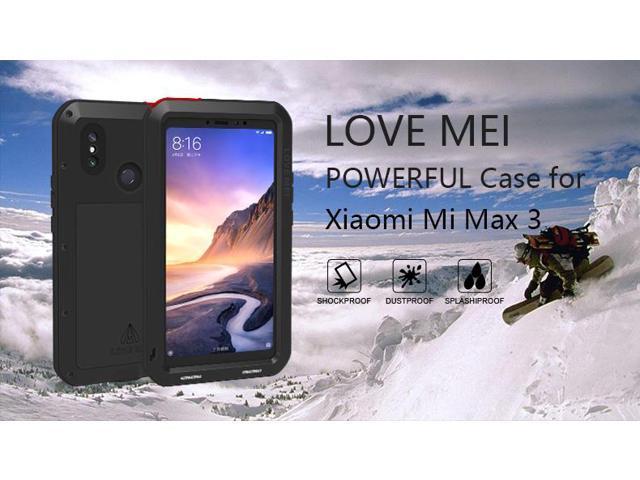 the best attitude 6809b b783d Love Mei Powerful Case For Xiaomi Mi Max 3 Premium Waterproof Shockproof  Aluminum Case Cover for Xiaomi Max3 (Silver) - Newegg.com