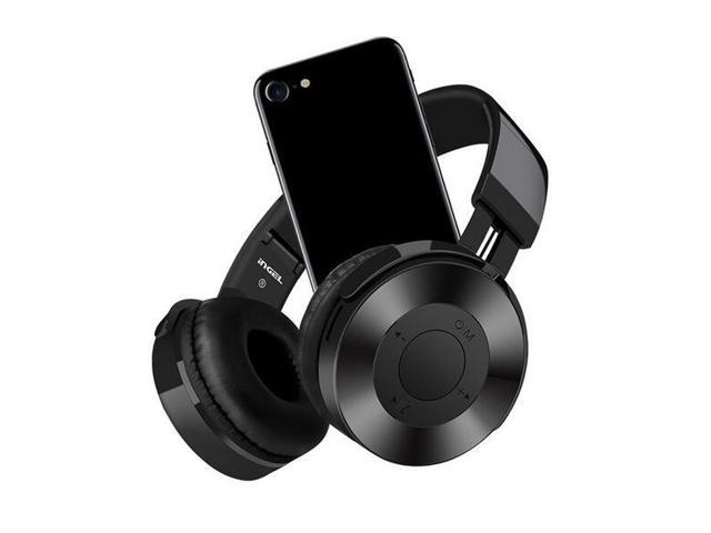 Dprui Foldable Wireless Earphone Hifi Stereo Music Gaming Headset Support Sd Card For Mobile Phone With Mic Bluetooth Headphone Black Newegg Com