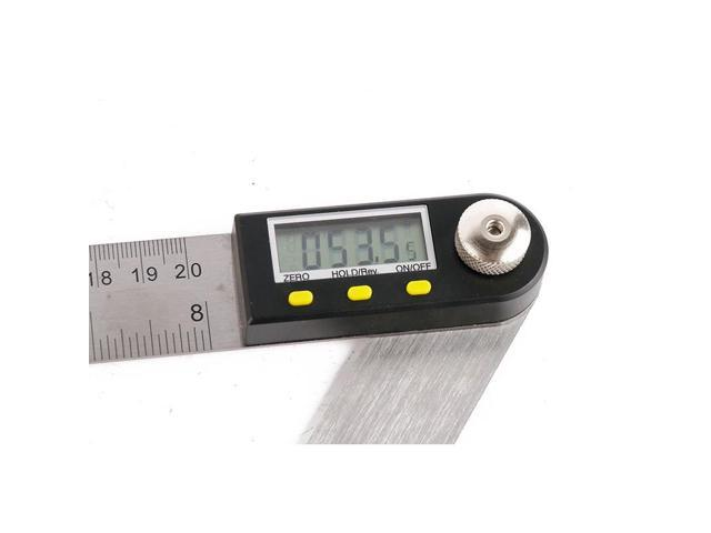 ELECALL 200mm Digital Protractor Inclinometer Goniometer Level Measuring Tool St