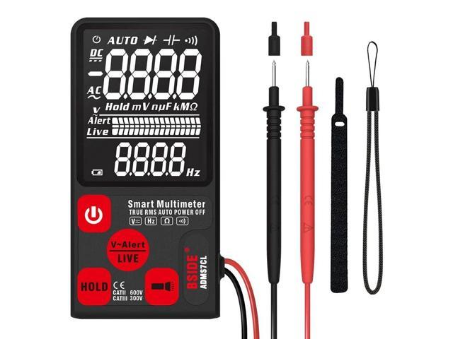 ADMS7CL Smart Multimeter True RMS Digital Multimeter Measuring AC/DC  Voltage Resistance Frequency with LCD Display DC/AC Voltage Meter  Resistance