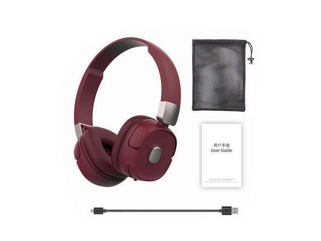 Roman G501 Wireless Headphones Bluetooth Headset Foldable Headphone Adjustable Earphones With Microphone For Pc Mobile Phone Mp3 Winered Newegg Com