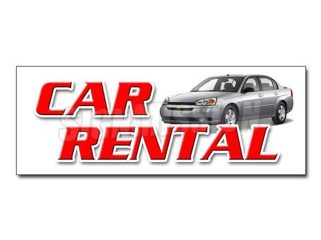 24 Car Rental Decal Sticker Auto Rent Daily Weekly Automobil Low