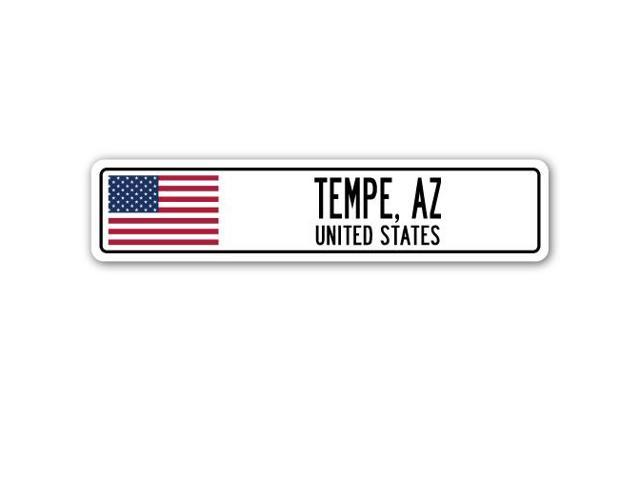 Tempe Az United States Street Sign American Flag City Country Gift
