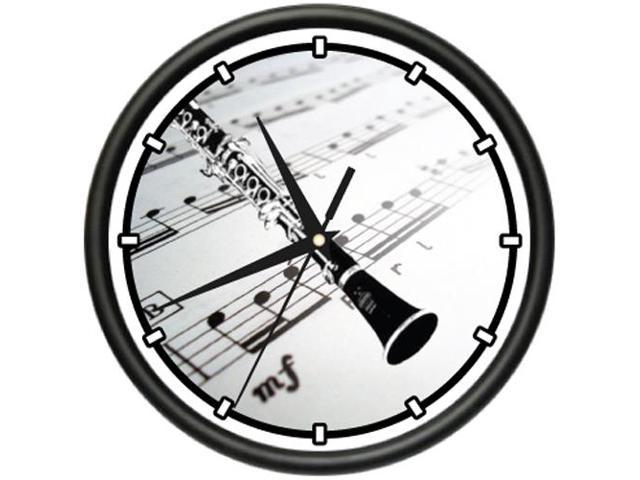 CLARINET Wall Clock music teacher school band reeds - Newegg com