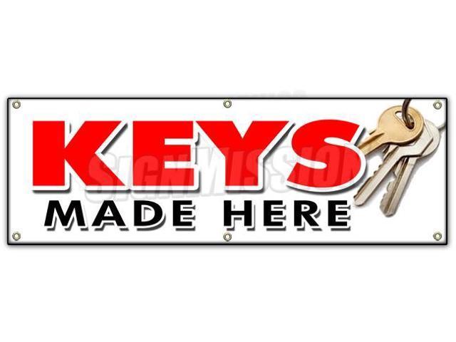 Where To Get Keys Made >> 72 Keys Made Here Banner Sign Transponder Auto Car Locksmith Locks Mobile Newegg Com