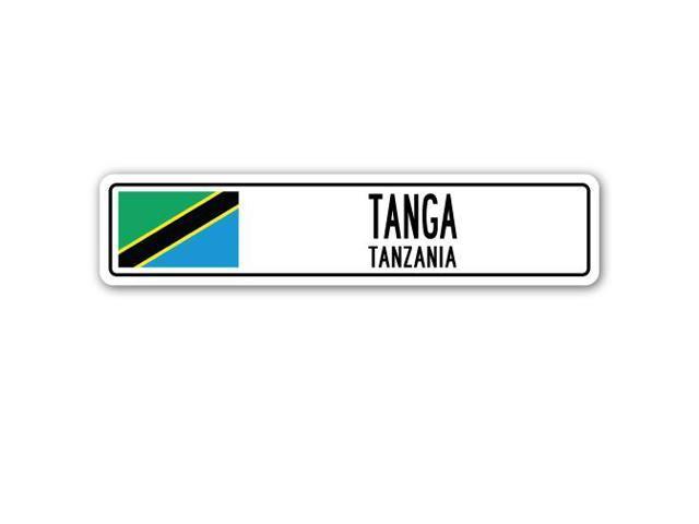 tanga  tanzania street sign tanzanian flag city country