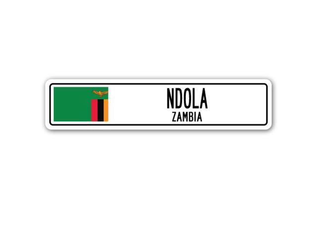 NDOLA, ZAMBIA Street Sign Zambian flag city country road wall gift -  Newegg com