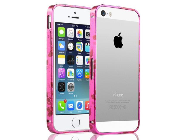 factory authentic 29b86 75203 ULAK Bumper Metallic Frame Case Cover for Apple iPhone 5 5S with Side  Protection Arc Bumper and Slim Metal Frame Case(Magenta) - Newegg.com