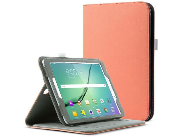 competitive price ef6ec 55ed3 ULAK Galaxy Tab S2 Case, Magnetically Removable Bluetooth Keyboard  Synthetic Leather Smart Cases Wake/Sleep Feature W/ Hand Strap & Card Slots  Cover ...