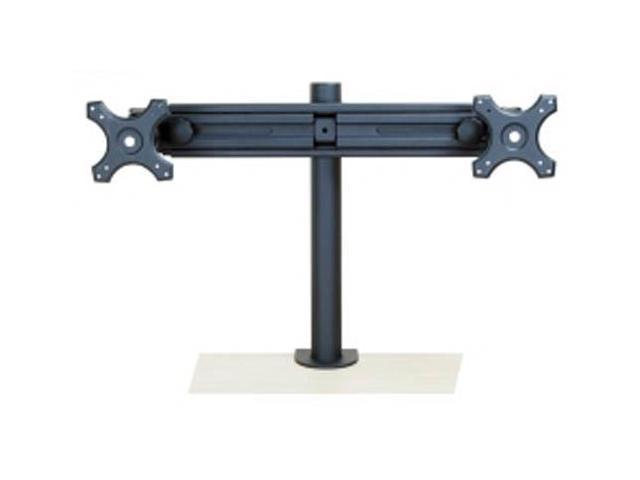 Monmount Dual Monitor Stand Straight Arm Clamp Style Holds