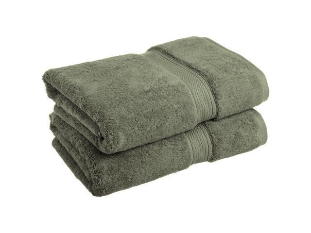Superior 2 Piece Bath Towel Set Premium Long Staple Cotton 900 GSM Forest Green