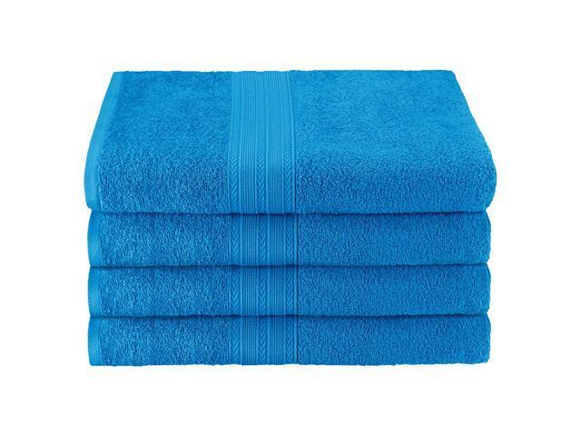 Ring-Spun Combed Cotton Superior Eco-Friendly 4-Piece Bath Towel Set Black Blue Nile Mills EF-BATH BK