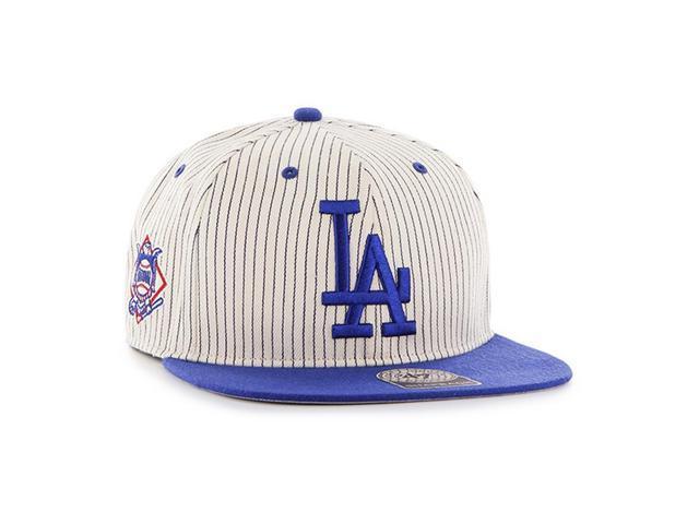 Men s Flatbill Snapback Los Angeles Dodgers LA Striped Hat - Newegg.com 78e76f7e600
