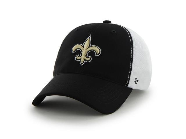 New Orleans Saints 47 Brand Black Draft Day Closer Performance Flexfit Hat  Cap 3349c9b443a