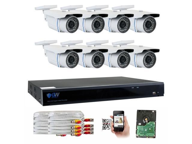 Gw Security 5mp 2592 X 1920p High Resolution Cctv Camera Security System 8 Channel H 265 Dvr 8 X 5mp Full Hd 2592 X 1920 In Outdoor Ip Cameras
