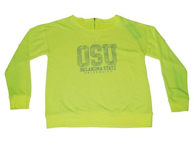 outlet store 47781 3bf3d Oklahoma State Cowboys Gear for Sports Women Neon Yellow Zip Back  Sweatshirt (M) - Newegg.com