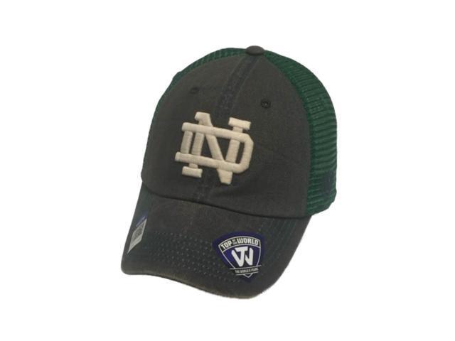 Notre Dame Fighting Irish TOW Gray Green Crossroads Mesh Adjust Snapback Hat  Cap fce813160f7