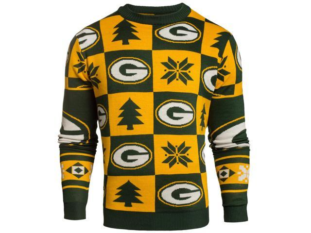 brand new b4598 48e91 Green Bay Packers NFL FC Yellow & Green Knit Patches Ugly Sweater (2XL) -  Newegg.com
