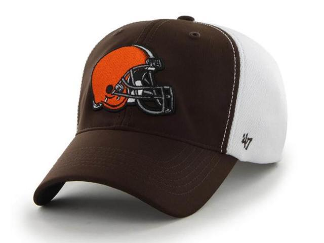 58bb9c3cc548b Cleveland Browns 47 Brand Brown Draft Day Closer Performance Flexfit Hat Cap