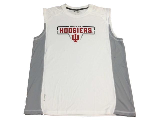 54c26d5156aae Indiana Hoosiers Champion White Gray Sleeveless Performace Tank Top T-Shirt  (L)