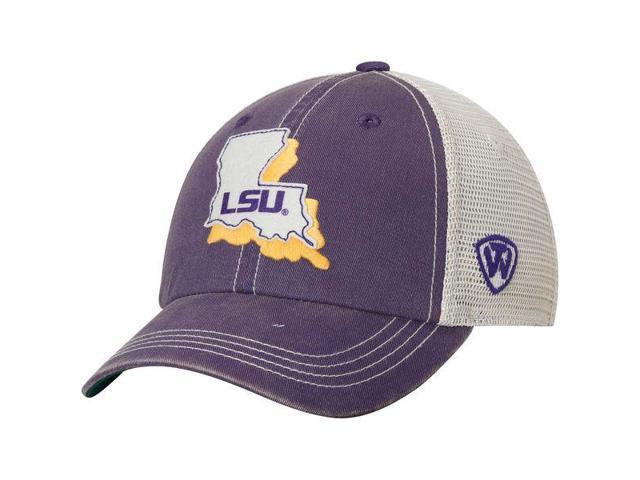 best service ea88c b3e66 LSU Tigers TOW Purple United Mesh Adjustable Snapback Slouch Hat Cap