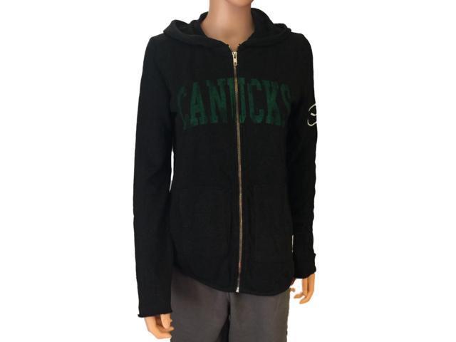 8793bc72e Vancouver Canucks Retro Brand Women Black Quad Blend Zip Up Hoodie Jacket  (M)