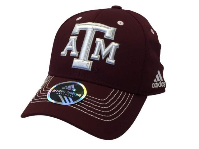 69ff259f447 Texas A M Aggies Adidas Maroon Structured Fitted Hat Cap (S M ...