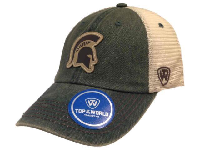 uk availability 84e6c 80ee9 Michigan State Spartans TOW Green Outlander Mesh Adjustable Snapback Hat Cap