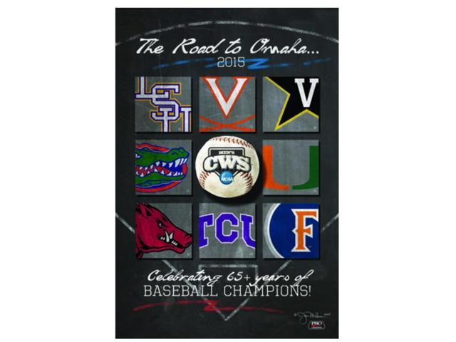picture regarding Printable College Logos identify 2015 College or university Environment Collection CWS Highway towards Omaha Staff Emblems Print Poster 24\