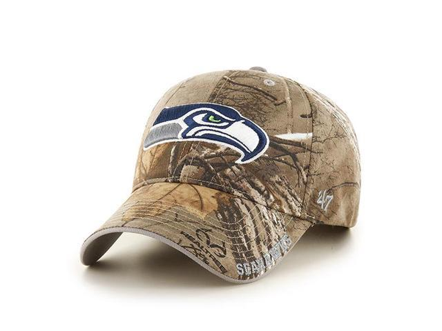 f507c865d91 Seattle Seahawks 47 Brand Realtree Camo Frost MVP Adjustable Hat ...