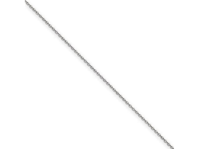14k Wg 1 5mm Solid Polished Cable Chain Size 9 Newegg Com