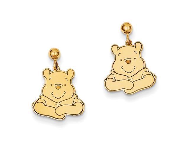 5e7b5f6a5eeb6 14k Disney Winnie The Pooh Dangle Post Earrings - Newegg.com