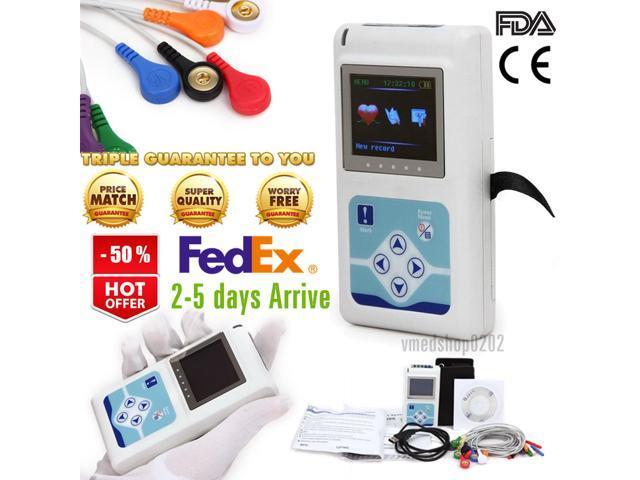 FDA 12-lead ECG Holter 24 hour Recorder Software Analysis EKG System  arrhythmia/Cardiac Heart Rate Monitor,TLC5000 - Newegg com