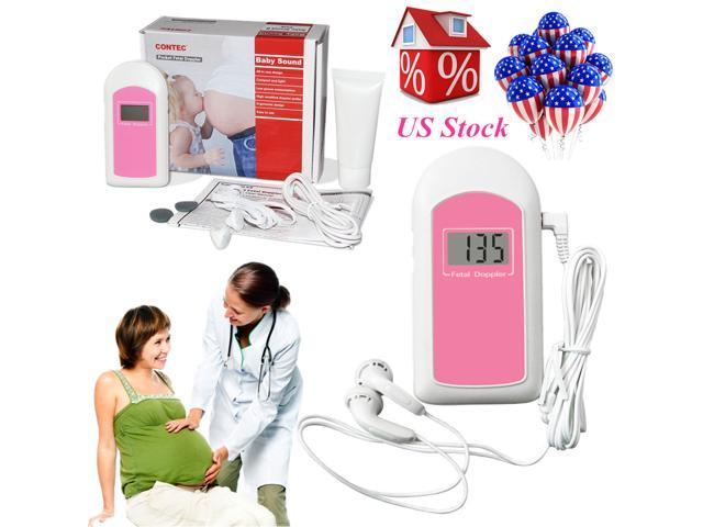 Baby Sound A Pregnatal Fetal Doppler Heart Rate Monitor Baby Fetus Recorder,Gel