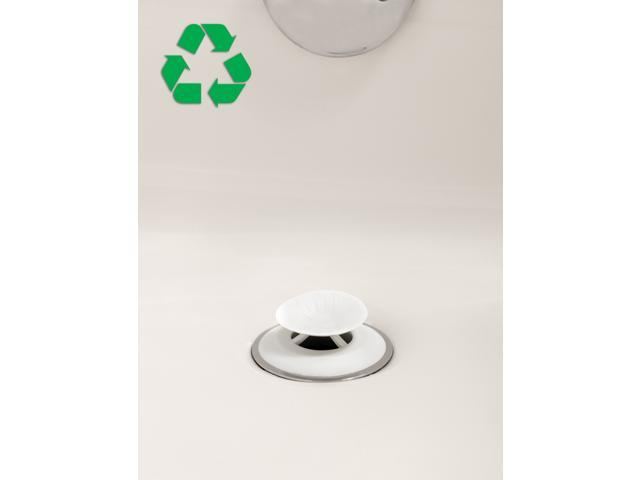"Recyclable Snug Plug Drain Stopper 1.5/"" Drain Hole in White by SlipX Solutions"