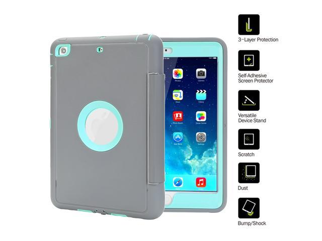 finest selection f3651 7c741 TKOOFN iPad Case for iPad mini 1/2/3/4 iPad Air 2 iPad 2/3/4 Extreme Heavy  Duty Full Body Rugged Hybrid Protective with PU Leather Smart Case Magnetic  ...