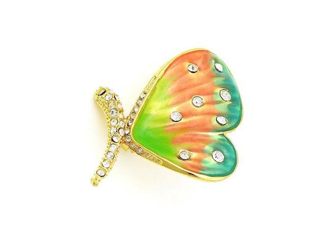 Glamorousky High Quality Dazzling Butterfly Brooch with Silver Swarovski  Element Crystal - Newegg com