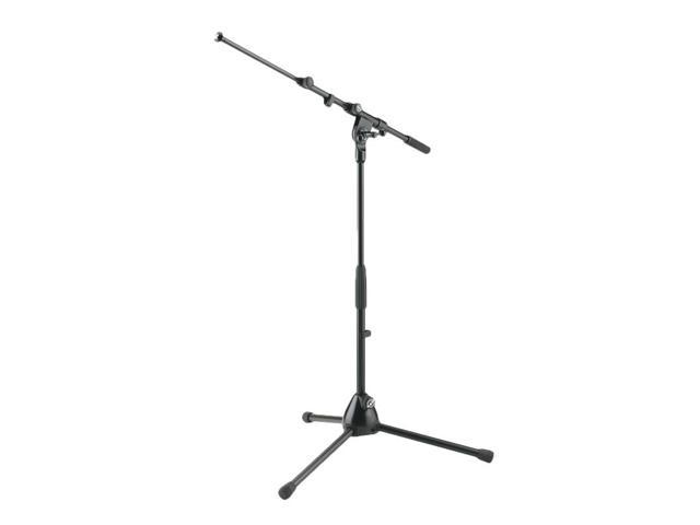 K&M 259 Low-profile Microphone Stand with Adjustable Boom Arm for Amps &  Drums - Newegg com